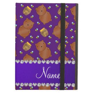 La púrpura conocida lleva el modelo de las abejas