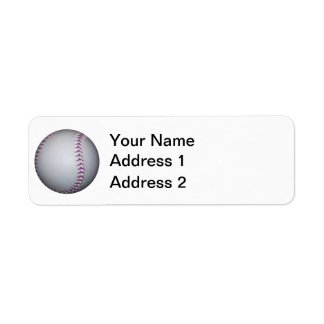 La púrpura cose béisbol/softball etiquetas de remite