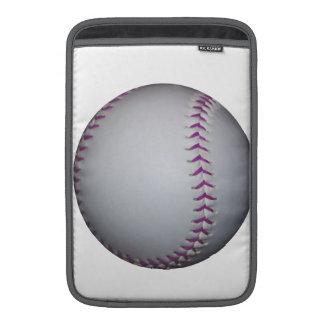 La púrpura cose béisbol softball funda macbook air