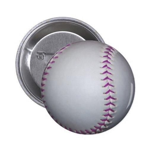 La púrpura cose béisbol/softball pin