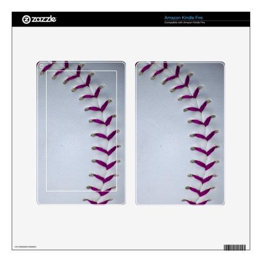 La púrpura cose béisbol/softball pegatina skin para kindle fire