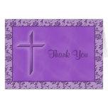 La púrpura cristiana le agradece cardar