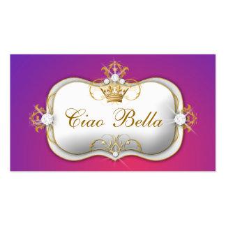 La púrpura de 311 Ciao Bella se descolora Tarjetas De Visita