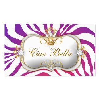 la púrpura de 311-Ciao Bella se descolora Tarjetas De Visita