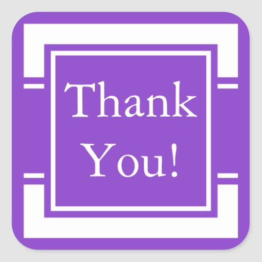 La púrpura de encargo le agradece pegatina y