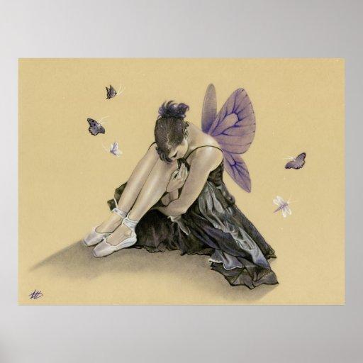 La púrpura de hadas oscura se va volando el poster