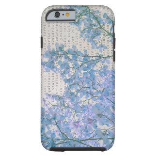 La púrpura de la lavanda florece fotografía con funda para iPhone 6 tough