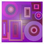 la púrpura de la MOD forma el anstract Teja Cerámica