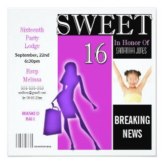 La púrpura de la revista del dulce dieciséis comunicado