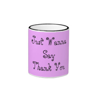 La púrpura de la taza del campanero con le agradec