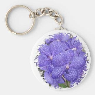 La púrpura de las violetas africanas del llavero f