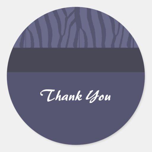 La púrpura de medianoche le agradece pegatina redonda