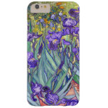 La púrpura de Vincent van Gogh irisa la bella arte Funda Para iPhone 6 Plus Barely There