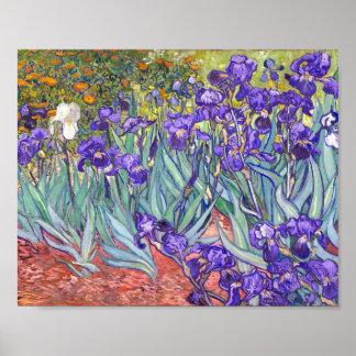 La púrpura de Vincent van Gogh irisa la bella arte Póster