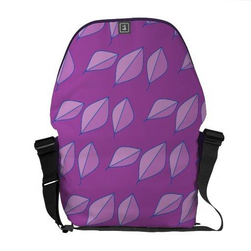 La púrpura deja el extracto bolsa de mensajería
