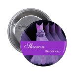 La púrpura del botón del Pin de la DAMA DE HONOR v