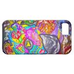 La púrpura del DISEÑO para los amantes del arte iPhone 5 Case-Mate Coberturas