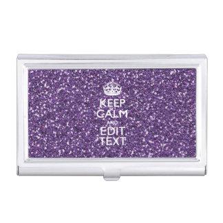 La púrpura del encanto mantiene calma cajas de tarjetas de presentación
