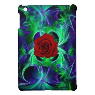 La púrpura del fractal geen y rosa rojo iPad mini protector