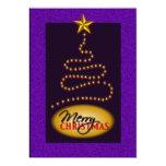 La púrpura del navidad y la invitación del fiesta