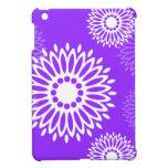 La púrpura del verano florece la mini caja del iPa iPad Mini Cobertura