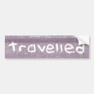 La púrpura del viaje viajó bohemio rústico pegatina para auto