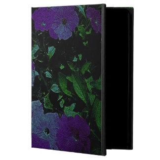 La púrpura del vintage florece la caja del aire de