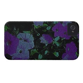 La púrpura del vintage florece la caja del iPhone  iPhone 4 Funda