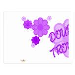 La púrpura doble del problema florece la parte 1 tarjetas postales
