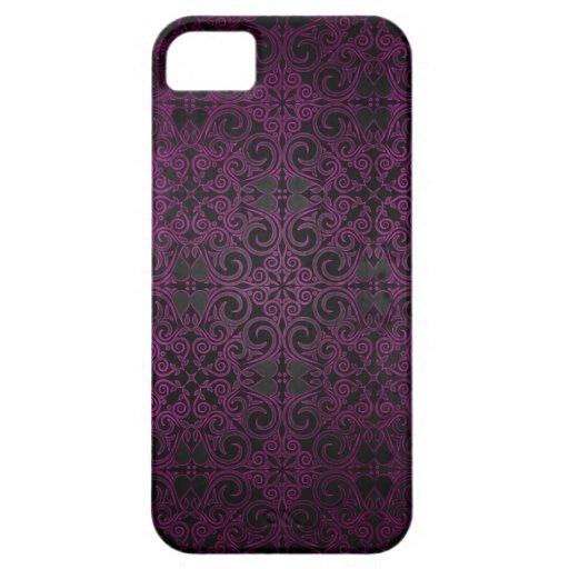 La púrpura elegante del damasco se descolora para  iPhone 5 Case-Mate funda