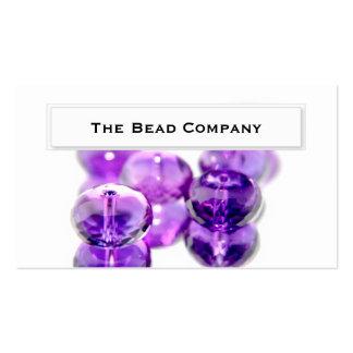 La púrpura elegante gotea tarjetas de visita