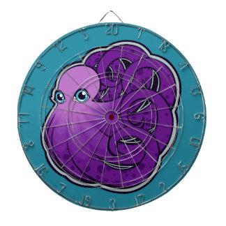 La púrpura encrespada manchó diseño del dibujo de