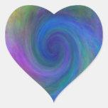 La púrpura enmarcó #2 espiral, camisetas, regalos pegatina de corazón