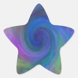 La púrpura enmarcó #2 espiral, camisetas, regalos pegatina en forma de estrella