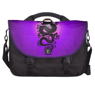 La púrpura estalló el dragón chino bolsa para ordenador