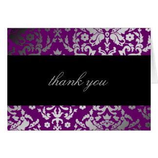 La púrpura extraordinaria del damasco del deslumbr tarjeta