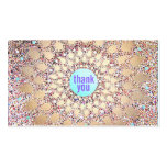 La púrpura festiva colorida del brillo le agradece tarjeta personal