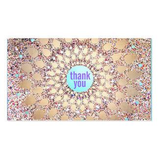 La púrpura festiva colorida del brillo le agradece tarjetas de visita