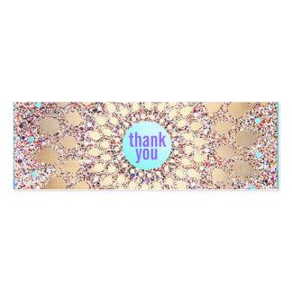 La púrpura festiva colorida del brillo le agradece tarjetas de visita mini