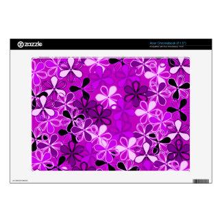 La púrpura florece la piel de Zazzle Acer Chromebook Calcomanía