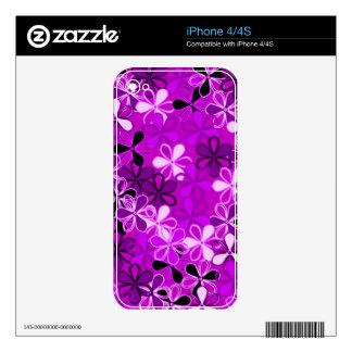La púrpura florece la piel de Zazzle iPhone 4 Skin