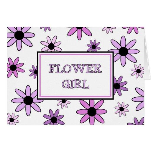 La púrpura florece la tarjeta de la invitación del