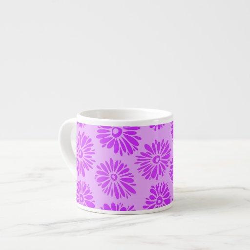 La púrpura florece la taza del jumbo del Espresso/ Taza Espresso