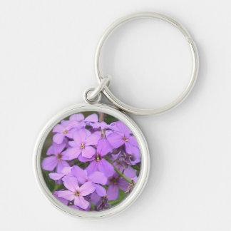 La púrpura florece llavero