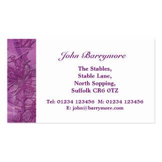 La púrpura florece tarjeta de visita