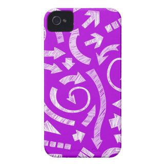 La púrpura garabateó a flechas Blackberry el caso iPhone 4 Cárcasa