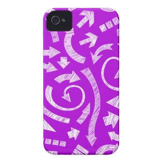 La púrpura garabateó el caso del iPhone 4/4S de iPhone 4 Case-Mate Protector