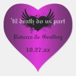La púrpura gótica, ennegrece al pegatina con alas