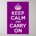 La púrpura guarda calma y continúa impresiones