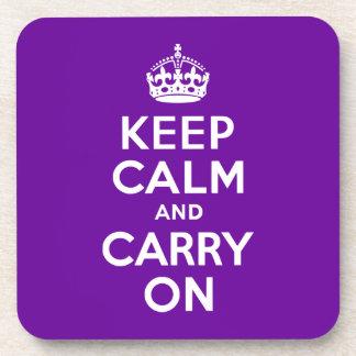 La púrpura guarda calma y continúa posavasos